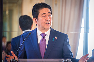 Greetings from Shinzo Abe, Prime Minister of Japan