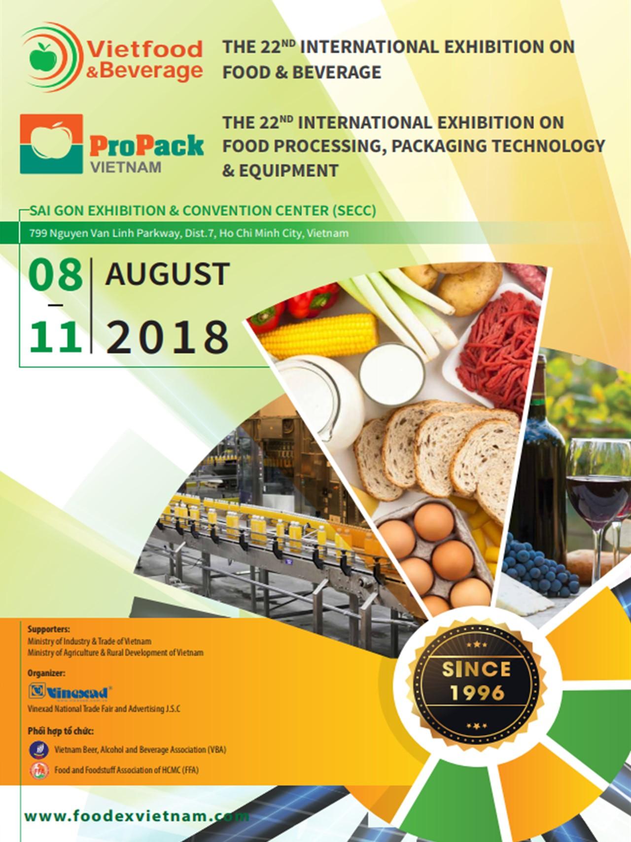 VIETFOOD & BEVERAGE 2019 / PROPACK VIETNAM 2019 - 2019/08