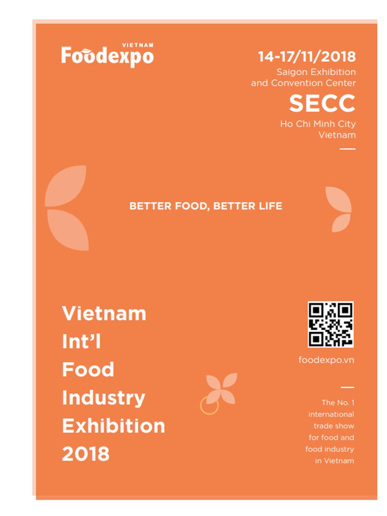 Vietnam Food Expo 2018 - 2018/11 | Online Trade Fair Database (J